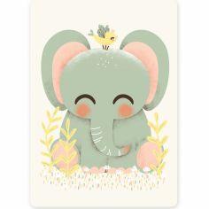 Petite carte les Animignons l'Éléphant (10,5 x 14,8 cm)