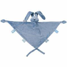 Maxi doudou attache sucette lapin Lapidou bleu (40 x 65 cm)