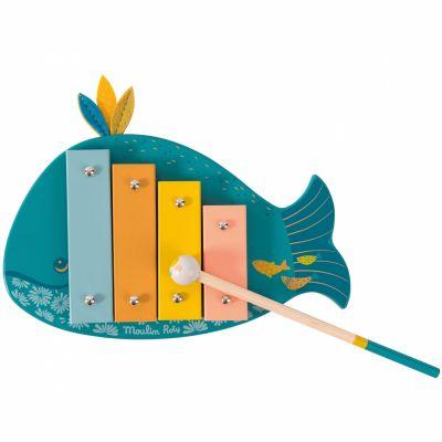 Xylophone baleine Joséphine Le voyage d'Olga  par Moulin Roty