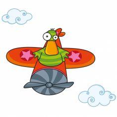 Stickers muraux Canard en avion coin coin