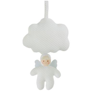 Coussin musical nuage ange blanc (21 cm)  par Trousselier