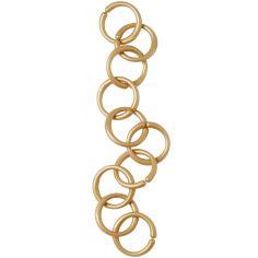 Lot 10 anneaux de suspension or