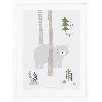 Affiche encadrée ours In the woods (30 x 40 cm)  par Lilipinso