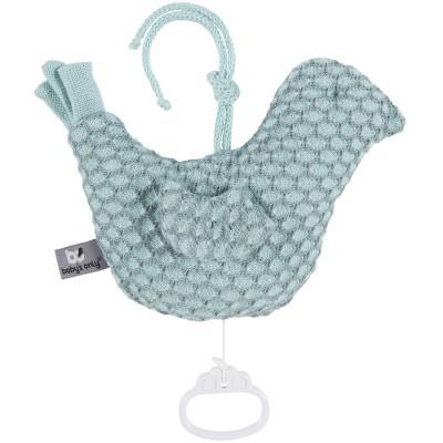 Doudou musical oiseau Sun vert menthe et gris vert (18 x 22 cm) Baby's Only