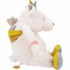 Ours blanc musical Pom Le voyage d'Olga (30 cm)