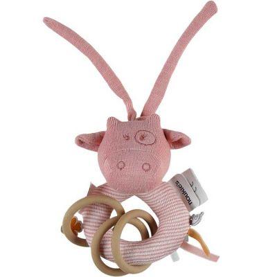 Hochet anneau Iconiques Lola rose  par Noukie's