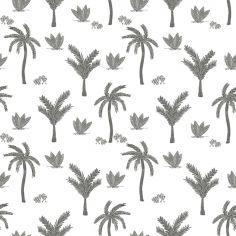 Papier peint intissé monochrome palmiers (10 m)