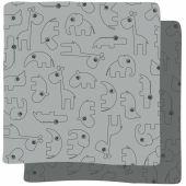 Lot de 2 langes Contour gris (70 x 70 cm) - Done by Deer