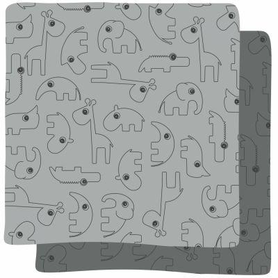 Lot de 2 langes Contour gris (70 x 70 cm)  par Done by Deer