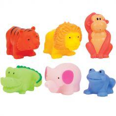 Coffret jouets de bain jungle (6 pièces)