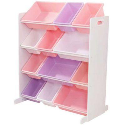 Meuble de rangement Sort It & Store It pastel (12 bacs)  par KidKraft
