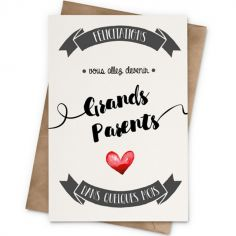 Carte Annonce grands-parents (10 x 15 cm)