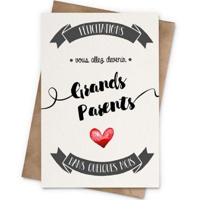 Carte Annonce grands-parents (10 x 15 cm)  par La Poupette à paillettes