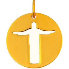 Mini bijou Christ de Rio sur cordon (or jaune 18 carats)