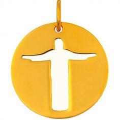 Mini bijou Christ de Rio sur cordon (or jaune 18 carats)