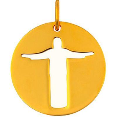 Mini bijou Christ de Rio sur cordon (or jaune 18 carats)  par Maison La Couronne