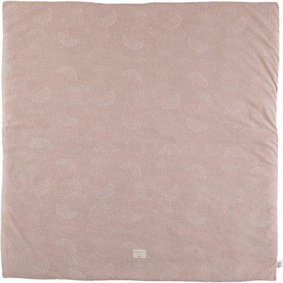 Tapis de jeu Colorado White Bubble Misty Pink (100 x 100 cm)  par Nobodinoz