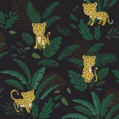 Papier peint intissé Petit guépard Jungle night