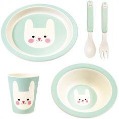 Coffret repas en bambou Bonnie le lapin (5 pièces)