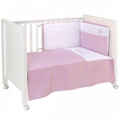 set couvre lit et tour de lit pic rosa 70 x 140 cm par cambrass. Black Bedroom Furniture Sets. Home Design Ideas