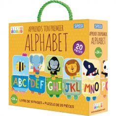 Livre et puzzle Apprends ton premier alphabet (20 pièces)