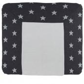 Housse de matelas à langer XL Star gris anthracite et gris (75 x 85 cm) - Baby's Only