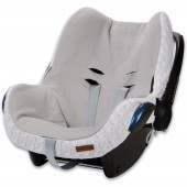 Housse pour siège-auto groupe 0+ Cable Soft blanc - Baby's Only