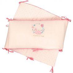 Tour de lit Flamant rose (pour lits 60 x 120 ou 70 x 140 cm)