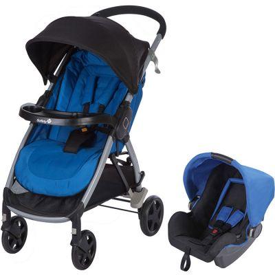 Pack duo poussette + cosy bleu Step & Go Baleine blue  par Safety 1st