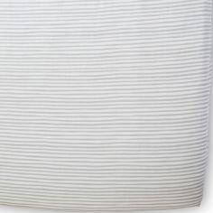 Drap housse Stripes Away Pebble rayures grises (70 x 140 cm)