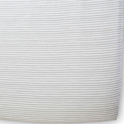 Drap housse Stripes Away Pebble rayures grises (70 x 140 cm)  par Pehr