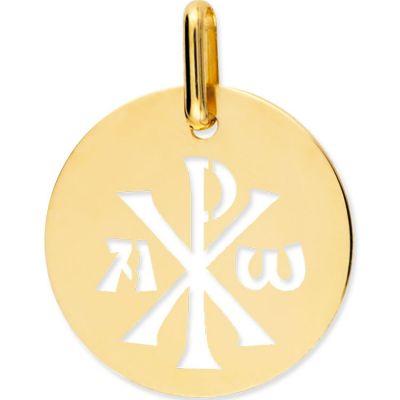 Médaille Chrisme ajouré (or jaune 750°)  par Lucas Lucor