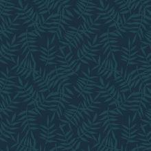 Papier peint motif feuillage bleu sombre (10 m)  par Lilipinso
