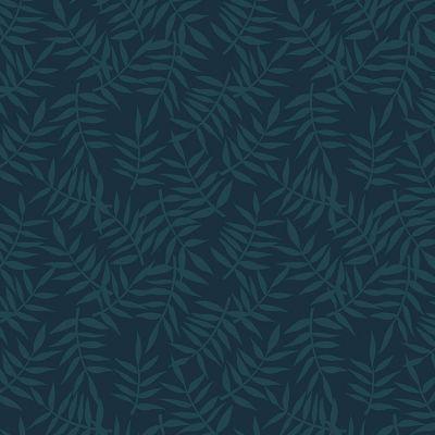 Papier Peint Motif Feuillage Bleu Sombre 10 M Lilipinso