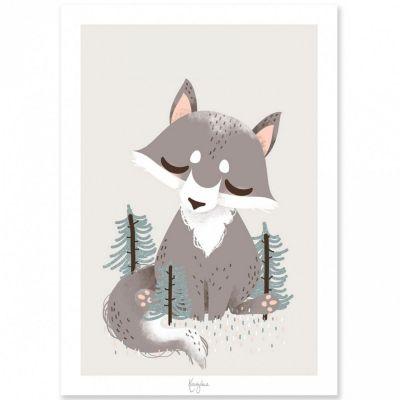 Affiche A3 les Animignons le loup (personnalisable)  par Kanzilue