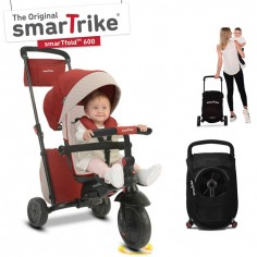 Tricycle évolutif 7 en 1 smarTfold 600 pliant rouge