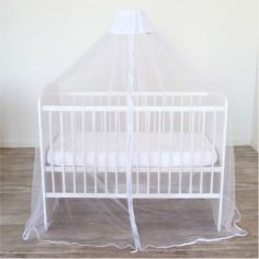 Ciel de lit moustiquaire universel blanc