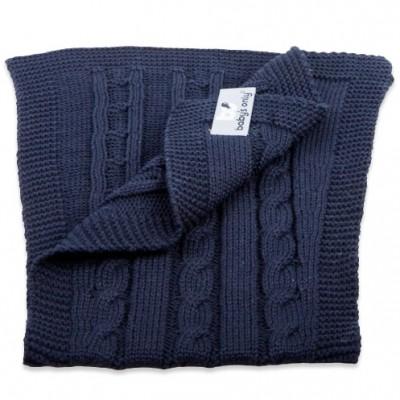 Bavoir protection d'épaules Cable Uni bleu marine Baby's Only