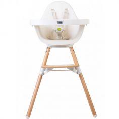 Chaise haute Evolu One.80° naturel et blanc