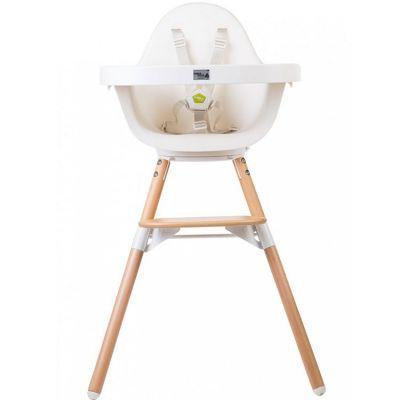 Chaise haute Evolu One.80° naturel et blanc  par Childhome