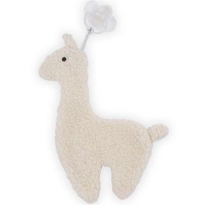 Doudou attache sucette Lama blanc  par Jollein