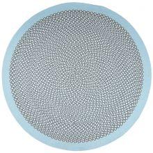 tapis rond brenda bleu 120 cm par nattiot. Black Bedroom Furniture Sets. Home Design Ideas