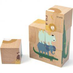 Puzzle cubes en bois Animaux (6 cubes)