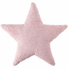 Coussin étoile rose (50 x 50 cm)