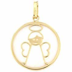Médaille Ange (or jaune 750° et nacre)