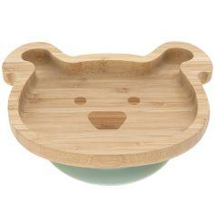 Assiette ventouse en bambou chien Little Chums