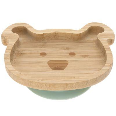 Assiette ventouse en bambou chien Little Chums  par Lässig