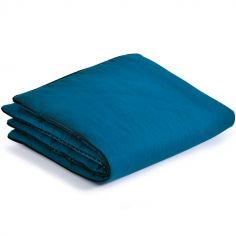 Couverture bleue Les Moustaches (90 x 70 cm)