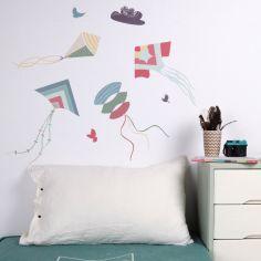 Stickers cerfs-volants multicolores