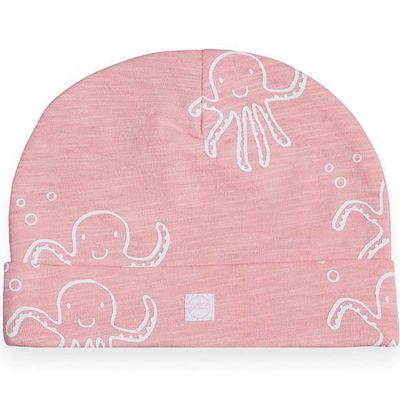 Bonnet en coton Octopus pieuvre rose (6-12 mois)  par Jollein